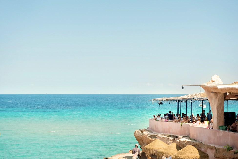 Las Salinas Beach sør for Playa d'en Bossa
