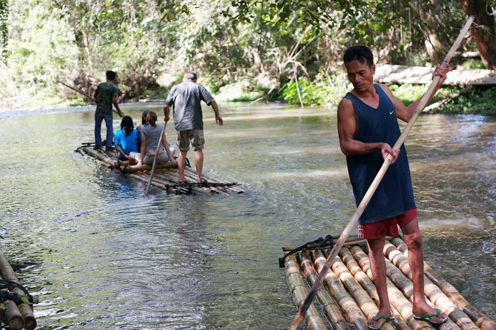 Padling på bambusflåter, Chiang Mai