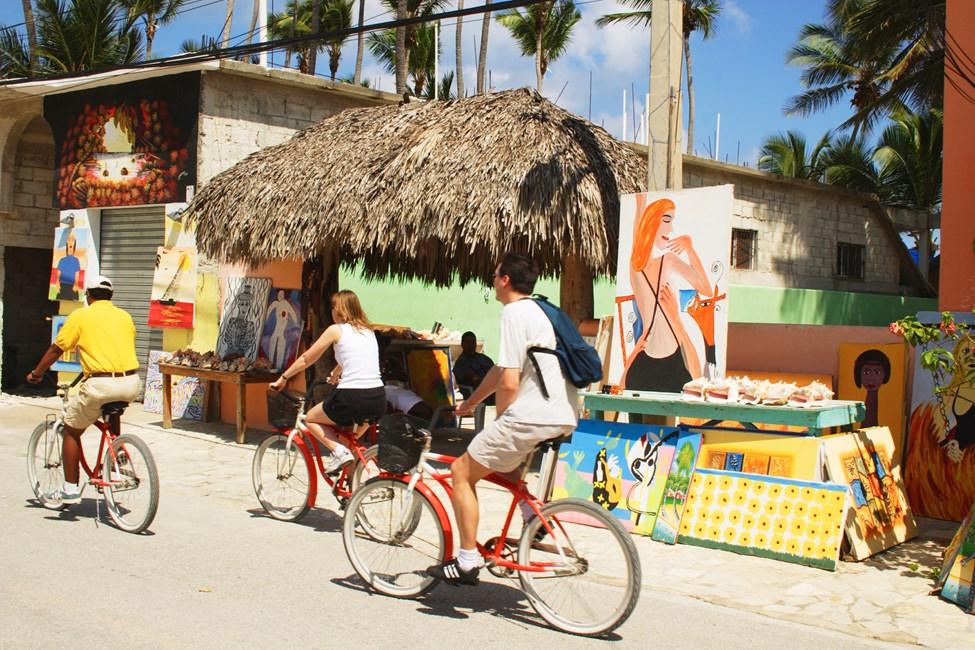 Den lille strandbyen Cortecito nord for Bavaro Beach