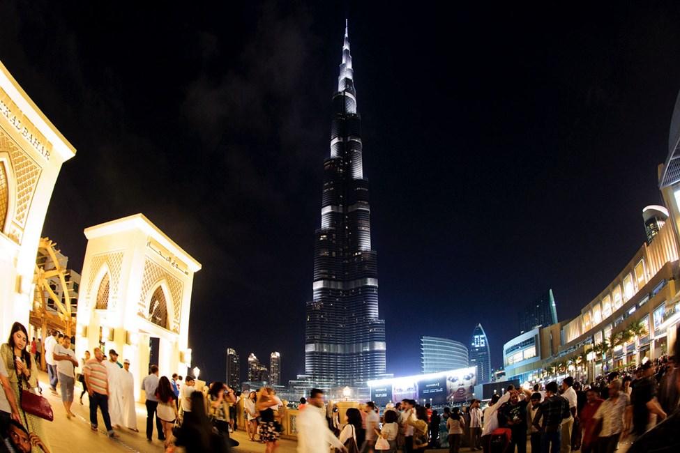 Burj Khalifa er verdens høyeste skyskraper
