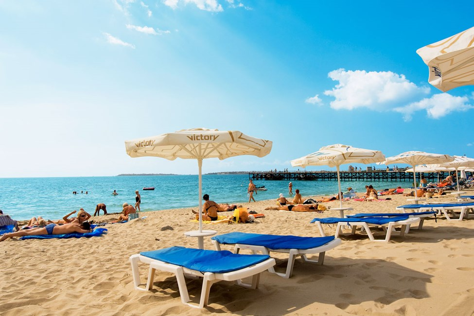 Stranden i Sunny Beach