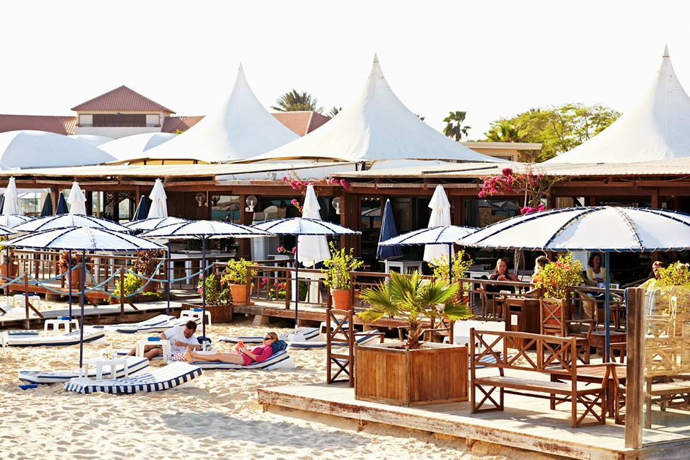 Strandbaren på Hotel Morabeza på Sal
