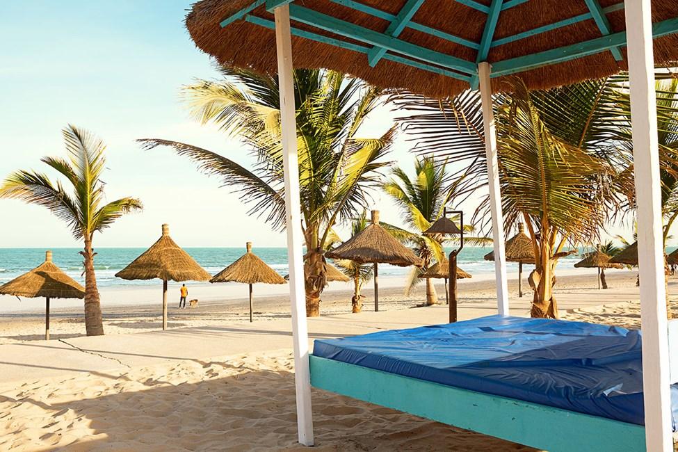 Stranden nedenfor Djembe Hotel