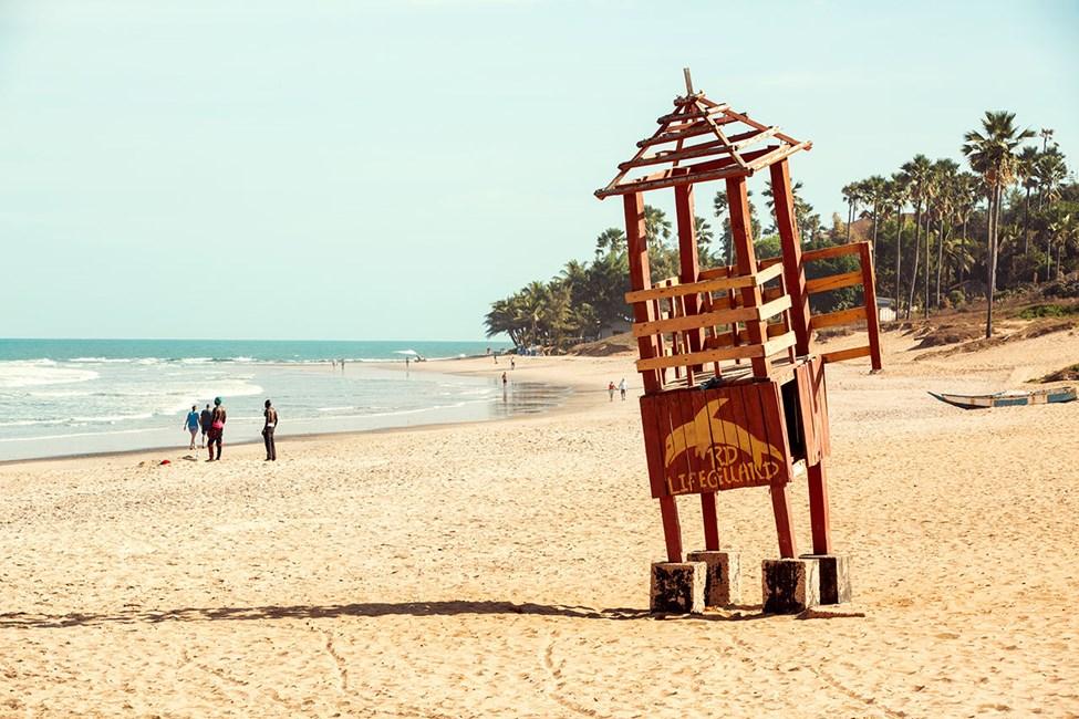 Stranden i Kotu-området