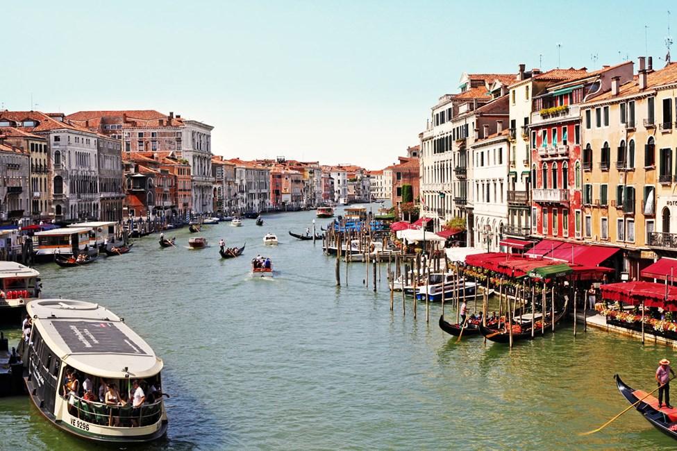 Venezia sett fra Rialtobroen