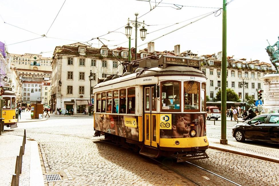 Klassisk sporvogn i Lisboa