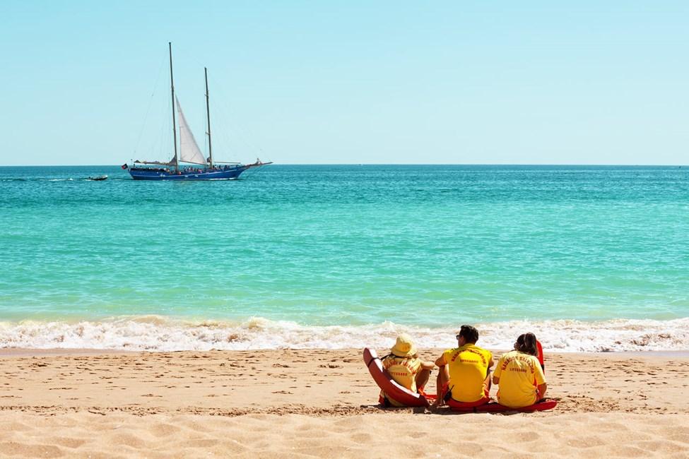 Stranden Praia do Inatel i Albufeira