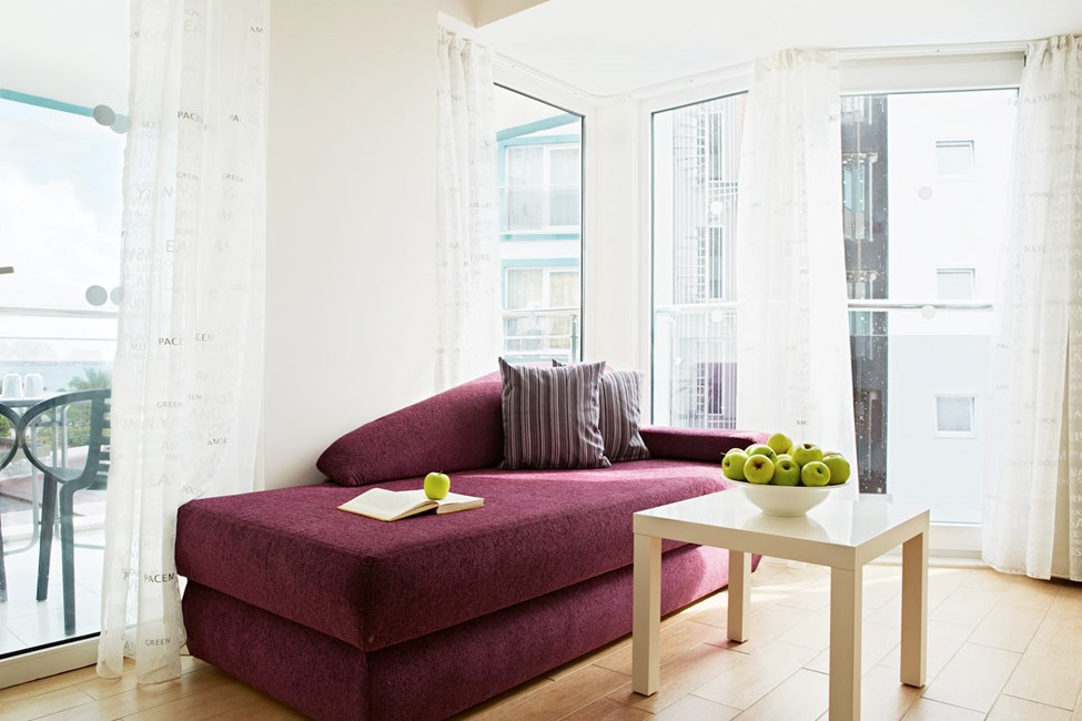 Junior Suite med to rom og balkong