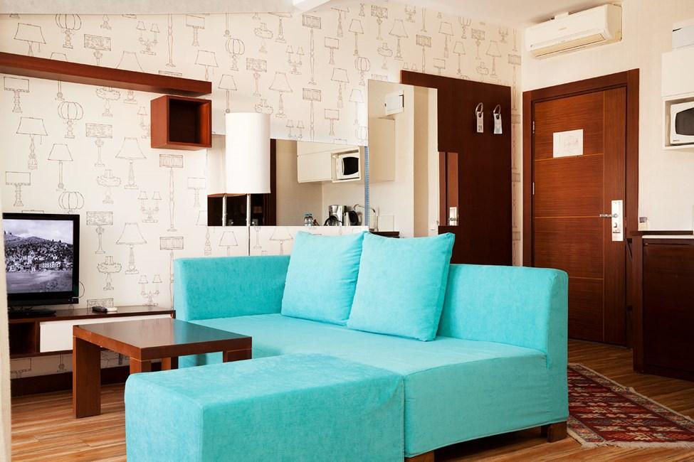 Penthouse Suite med balkong med begrenset havutsikt