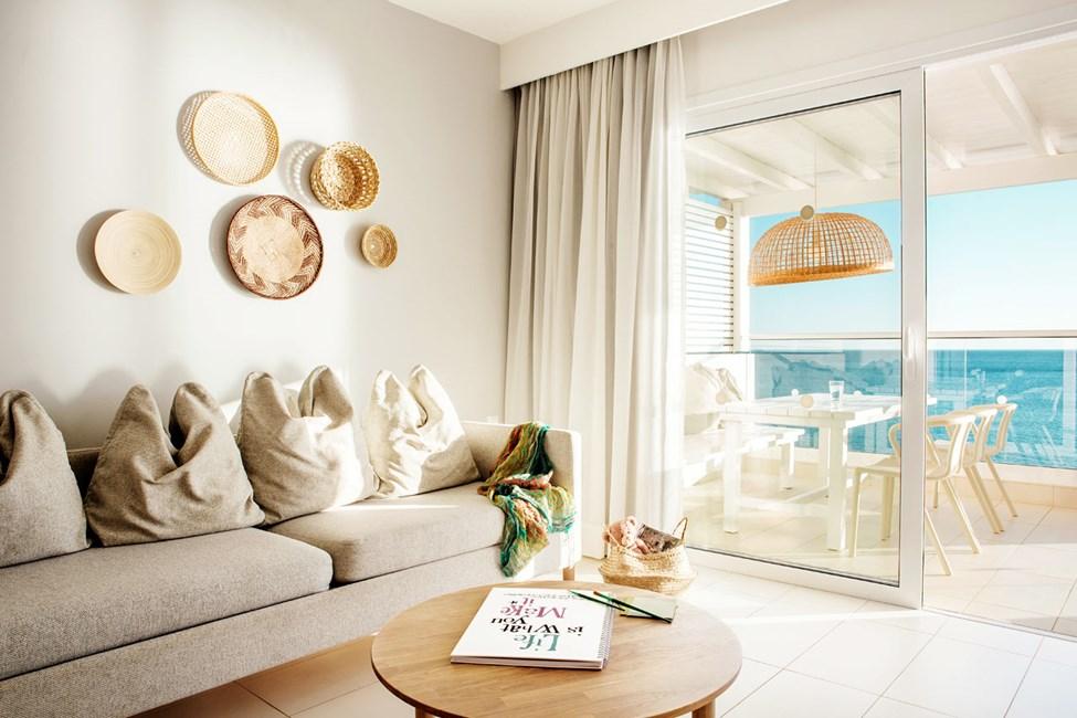 3-romsleilighet Royal Family Suite, stor balkong med havutsikt, Afrodite