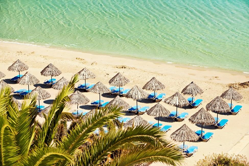 Strandliv på en av Kretas beste strender