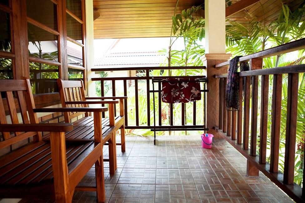 Dobbeltrom med terrasse mot hagen