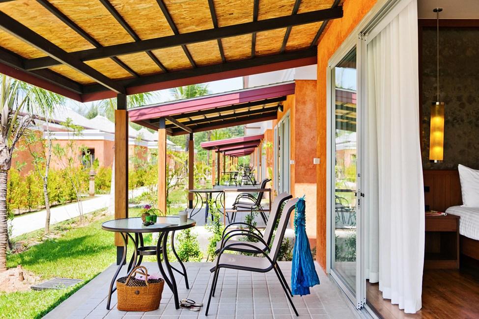 Alle terrassene har utsikt mot hagen