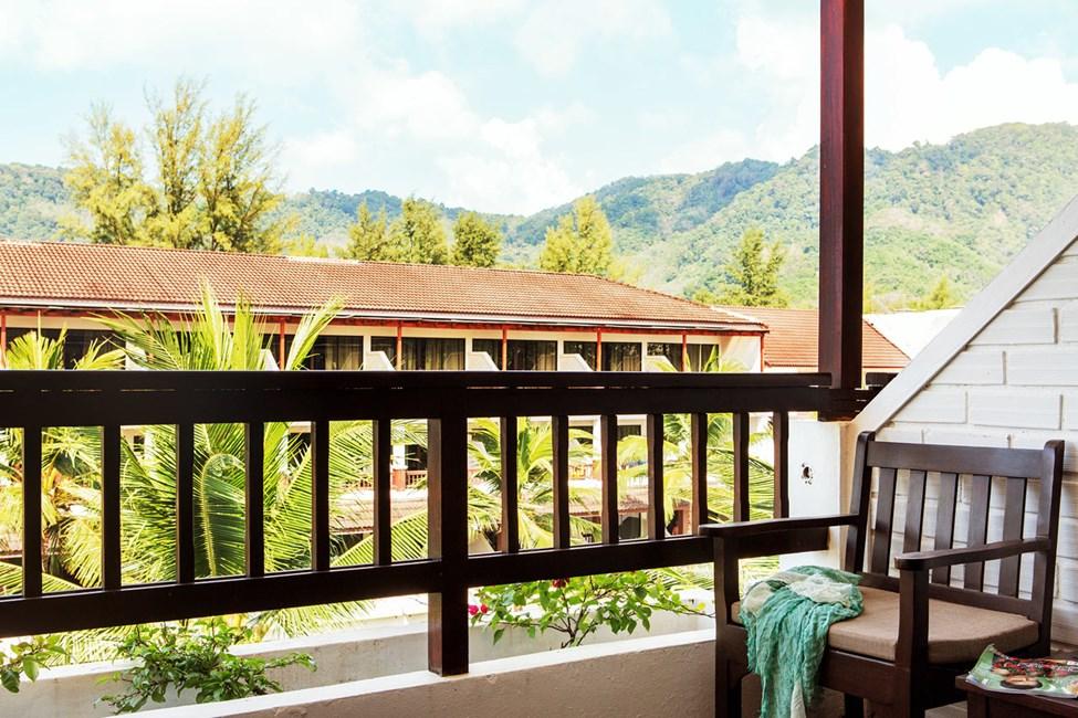 Classic Suite med balkong mot hagen