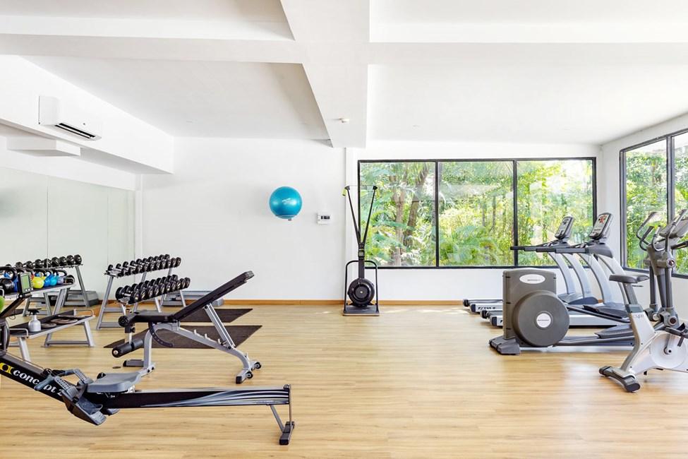 Benytt muligheten til å trene i vårt flunkende nye treningsrom.