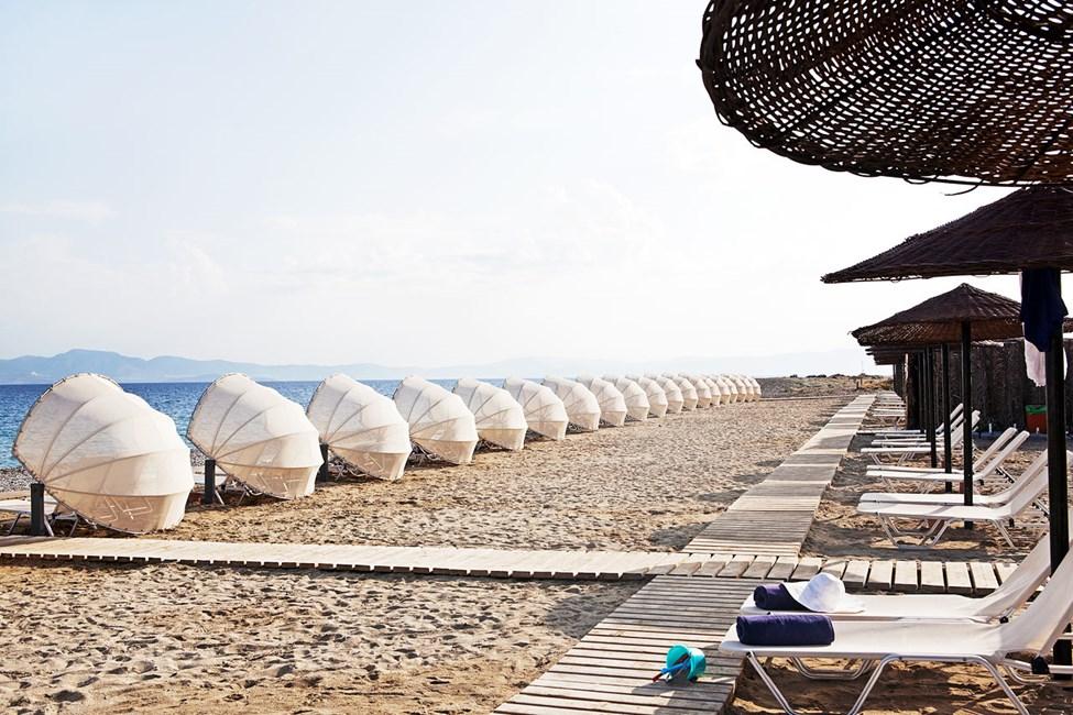 Psalidi Beach nedenfor hotellet