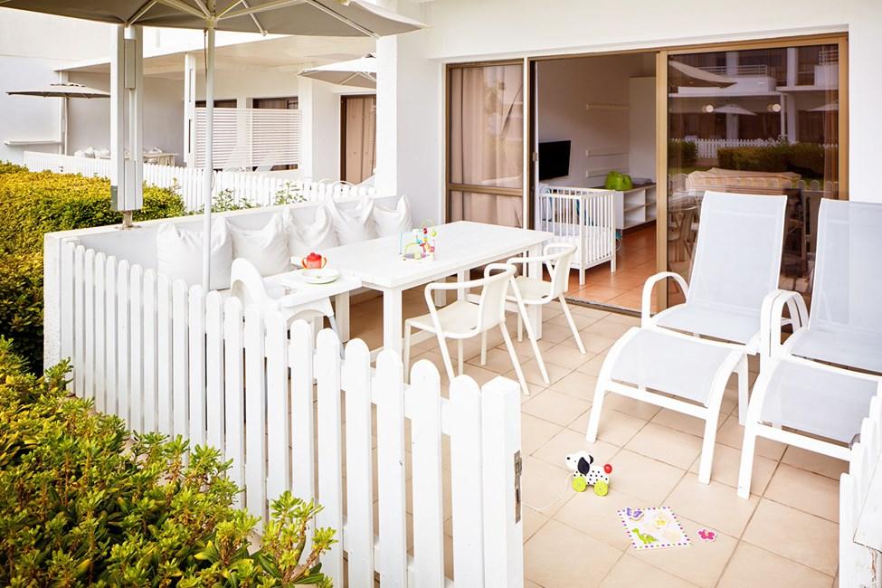 1-romsleilighet Happy Baby med terrasse mot hagen