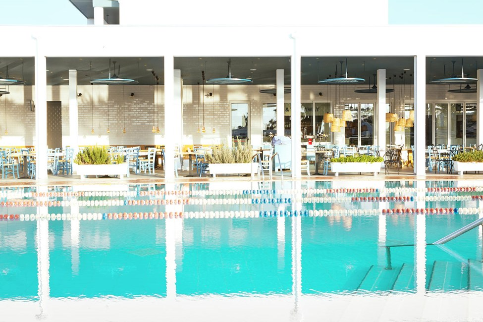 Sportsbassenget er perfekt for de som vil starte dagen med en svømmetur