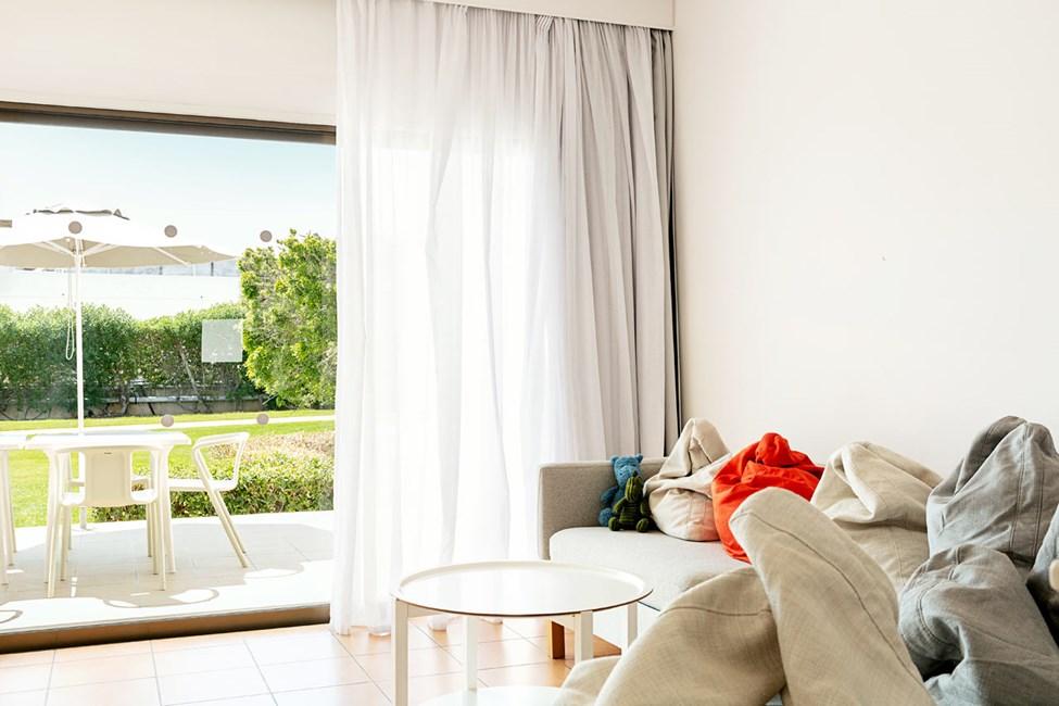 3-romsleilighet Big Family med terrasse mot omgivelsene