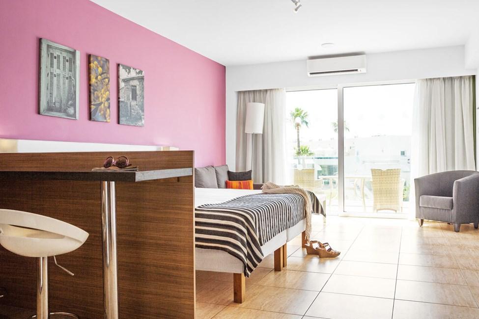 Classic Suite 1 rom med balkong mot hagen