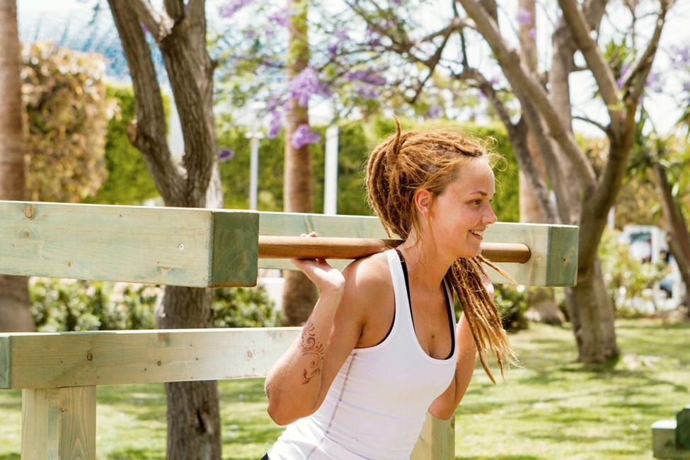 Vil du trene i ferien kan du utfordre deg selv i treningsrommet utendørs