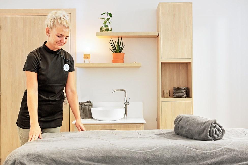 På vårt spa kan du slappe av og bestille deilige behandlinger