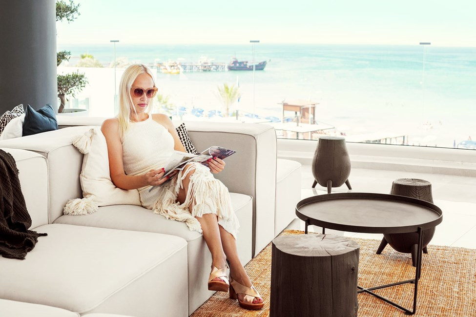 Loungen er hotellets hjerte og naturlige møteplass