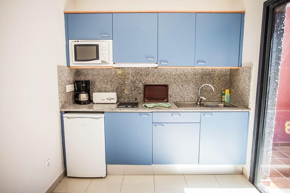 Kjøkkenkrok i leilighetene