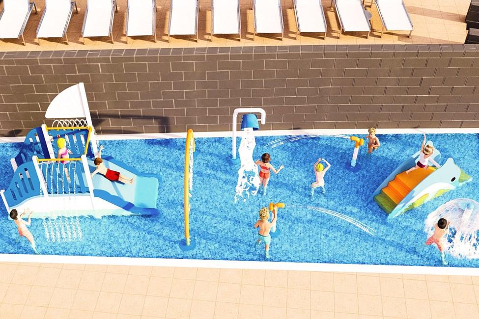 Vannlekepark - illustrasjon
