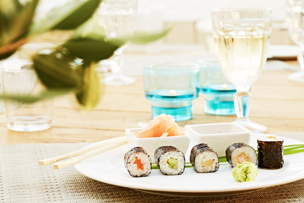 En av kveldene kan du nyte asiatiske retter i bufférestauranten