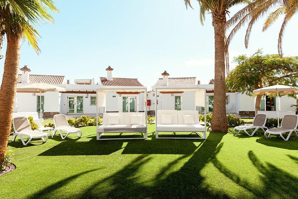 Lounge for gjester i 2-romsleilighet med takterrasse og 2-romsleilighet superior med terrasse