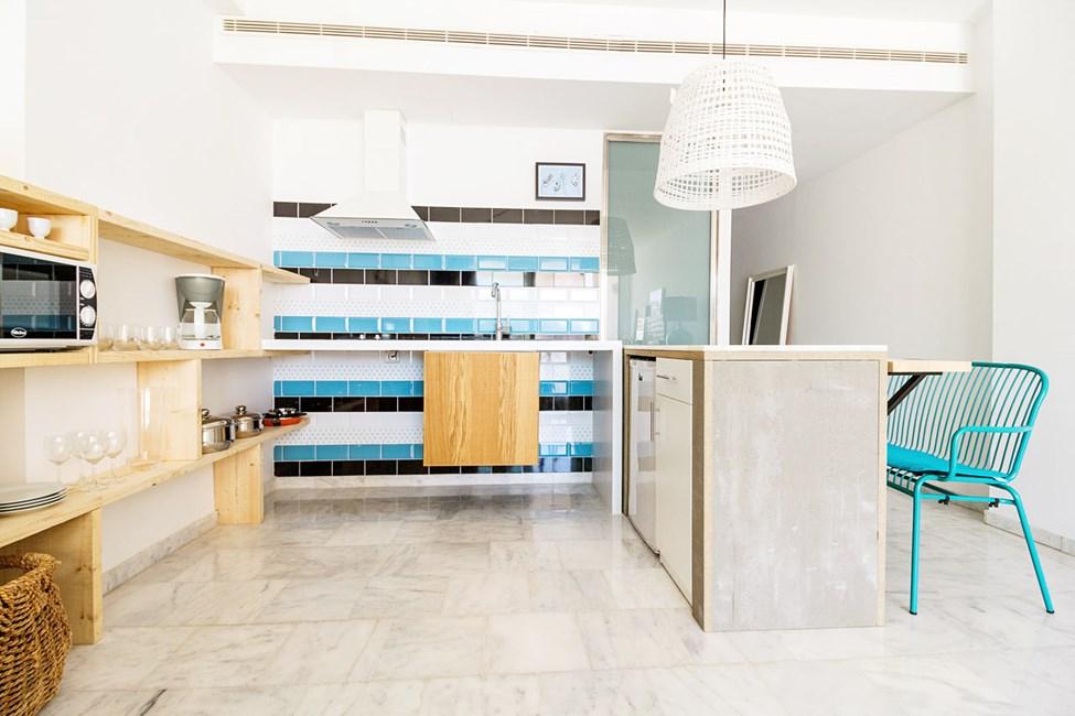 Eksempel på kjøkken i en av leilighetene