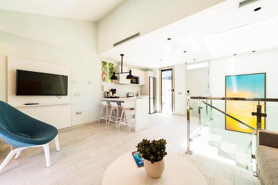 3-romsleilighet i to etasjer, med 2 ordinære senger