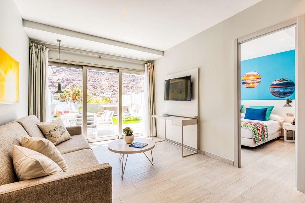 3-romsleilighet med 2 ordinære senger og stor balkong