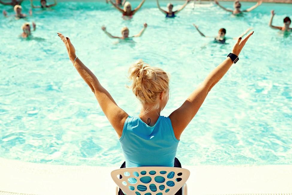 Water Aerobic, en av de mest populære aktivitetene.