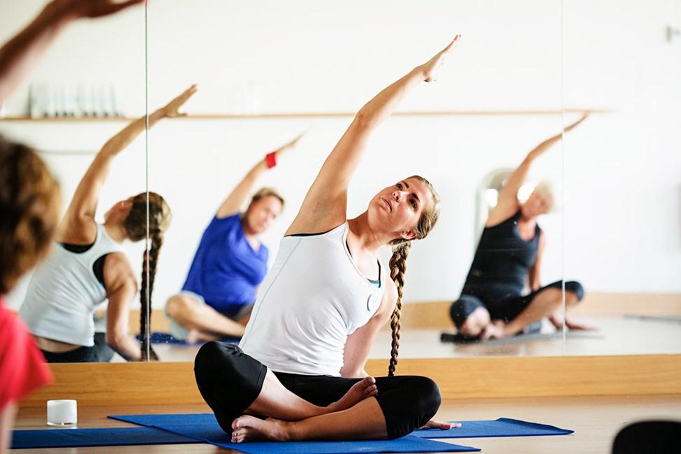 På Sunprime er yoga og andre gruppetreningstimer med SATS-utdannede instruktører inkludert