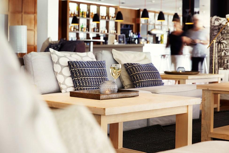 Hotellets moderne loungebar