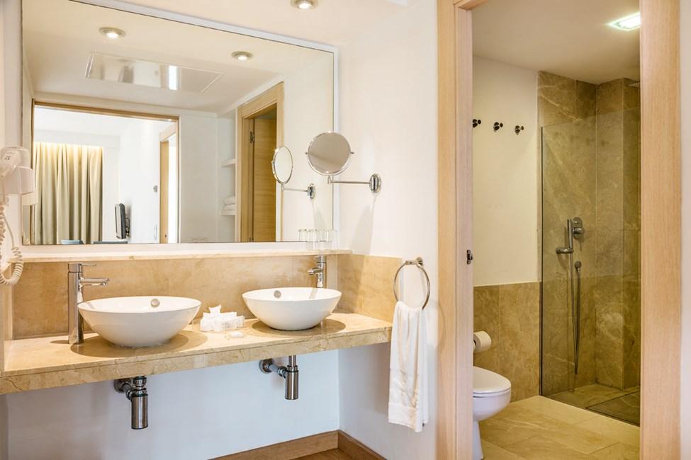 Badet i visse 1-roms- og 2-romsleiligheter