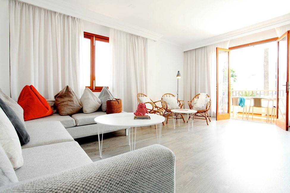 I  Villa Isabel bor du i lyse, luftige leiligheter med moderne innredning