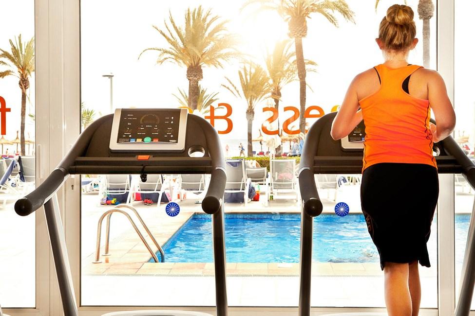 På Sunwing Alcudia Beach er det et fint treningsstudio for deg som vil være aktiv i ferien