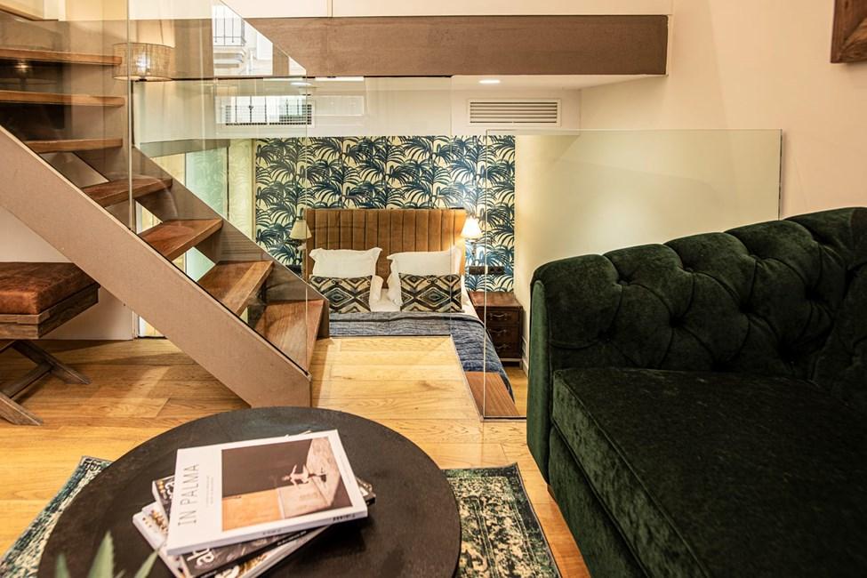 1-romsleilighet i tre etasjer