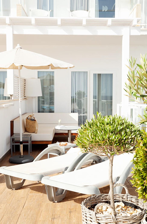 1-roms Prime Rooftop Suite med stor terrasse med havutsikt