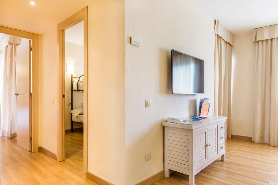 3-romsleilighet med køyeseng i et av soverommene