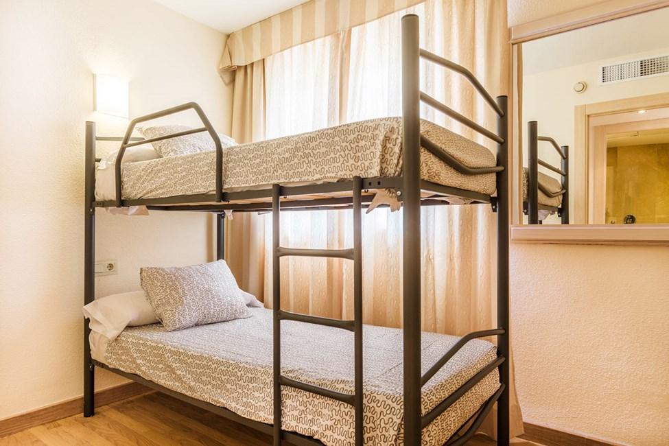 I noen 3-romsleiligheter er det køyeseng i et av soverommene