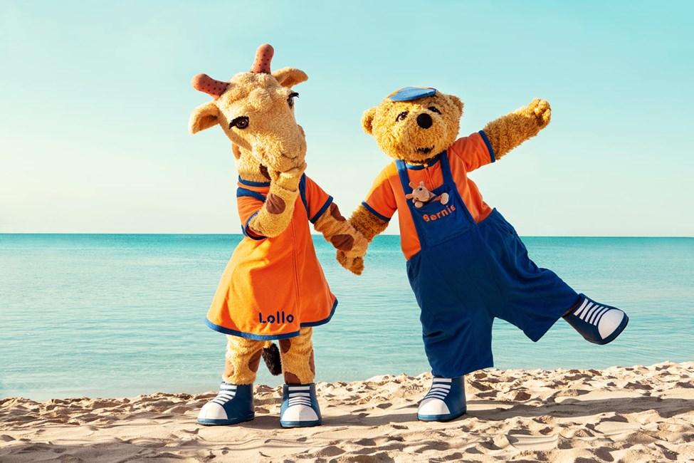Vings populære maskoter – sjiraffen Lollo og bjørnen Bernie