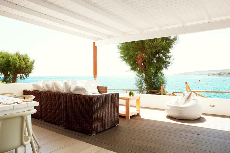 3-romsleilighet Royal Lounge Suite med stor terrasse og havutsikt, nærmest havet, Poseidon