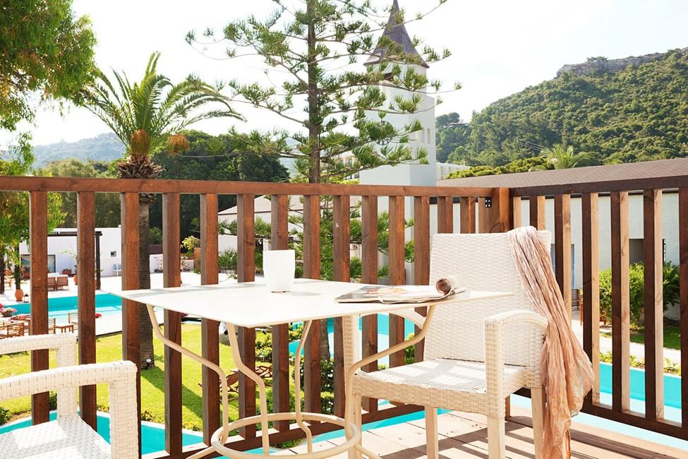 Junior Suite med balkong mot lagunen