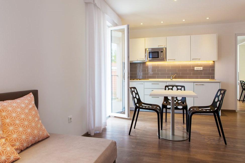 3-romsleilighet med balkong i Villa Marija-bygningen