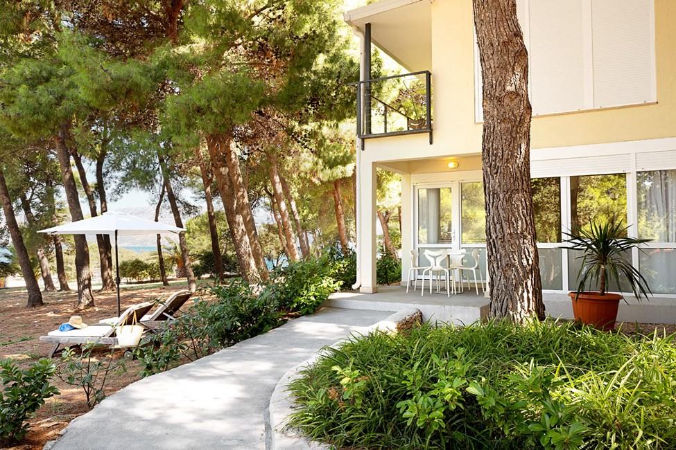 2-romsleilighet med terrasse mot havet i Garden-bygningen
