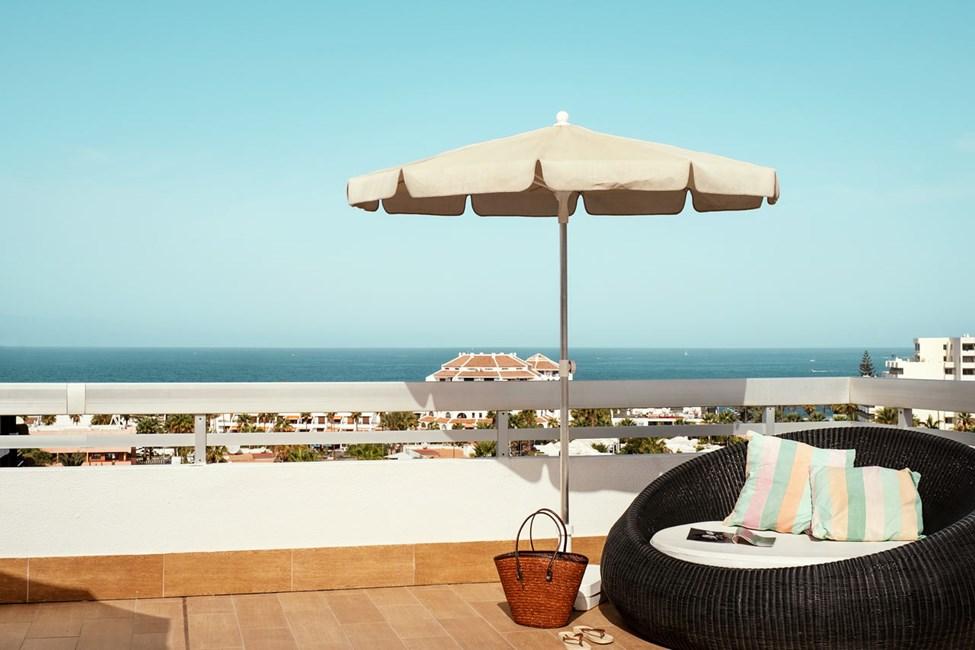 Hygg deg med den vakre utsikten fra takterrassen